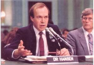 i 1988 la Hansen fram for Kongressen sin første advarsler om global oppvarming