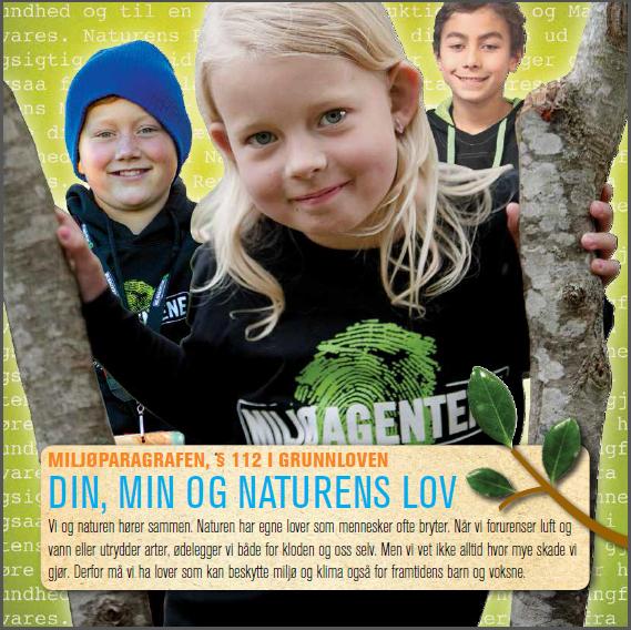 Den nye folderen fra Miljøagentene og Besteforeldreaksjonen, om Grunnlovens miljøparagraf, skal overrekkes representanter for partiene utenfor Stortinget på Verdens miljødag 5. juni.