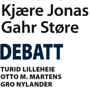 Kjære Jonas Garhr Støre