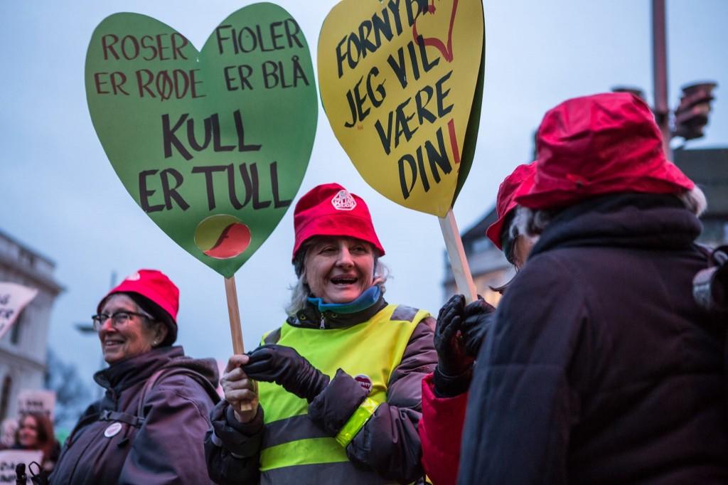 Mange muntre besteforeldre deltok på demonstrasjonen i Oslo