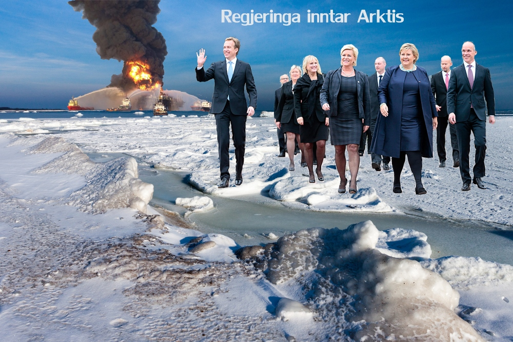 BUSINESS AS USUAL. Regjeringen vil kjøpe flere EU-kvoter.  Ingen kan si hva det betyr for norske klimagassutslipp. Og oljeutvinningen i nord skal fortsette med uforminsket styrke, som før.