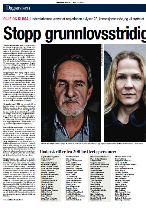 Som en av 200 akademikere, kunstnere, kirkefolk og tidligere politikere skrev Kristoffer Rypdal under på oppropet mot regjeringens planer i Arktis.