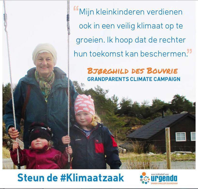 Bjørghild er også bidragsyter til den hollandske miljøstiftelsen Uregda, som fører et klimasøksmål mot staten. – Mine barnebarn har rett å vokse opp i et trygt klima, sier hun.