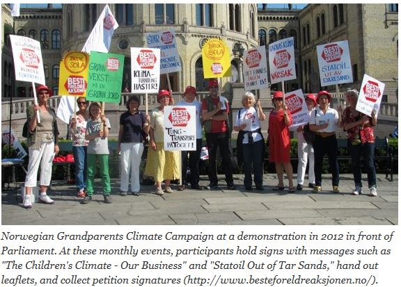 "Fra reportasjen ""Elders take Action on Climate Change"", 21 mai 2015."
