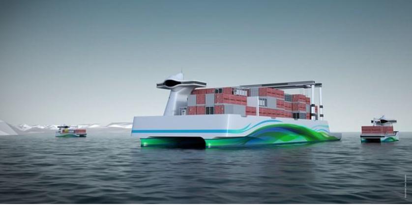 Framtida er sjøen og lite energikrevjande sjøtrasport, meinte Stein Malkenes. Prosjekt Short Sea Pioneer (Maritime Clean Tech).