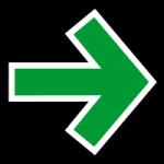 grønn pil