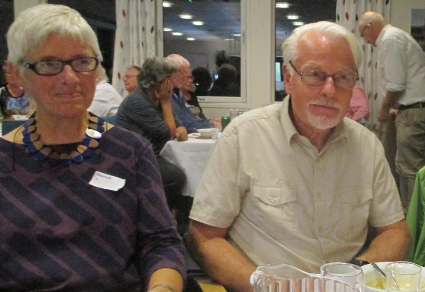 Kirsti og Gunnar på årsmøte i Besteforeldrenes klimaaksjon i Skien 2015.