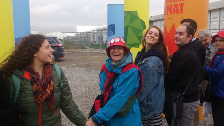 En glad og lykkelig Linda Parr på Le Bourget. Foto: Ola Dimmen