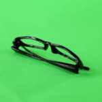 grønn brille