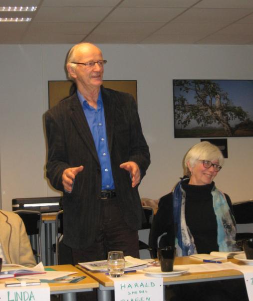 Stort engasjement også på seminaret. harald Smedal og Thelma Kraft fra Bergen.