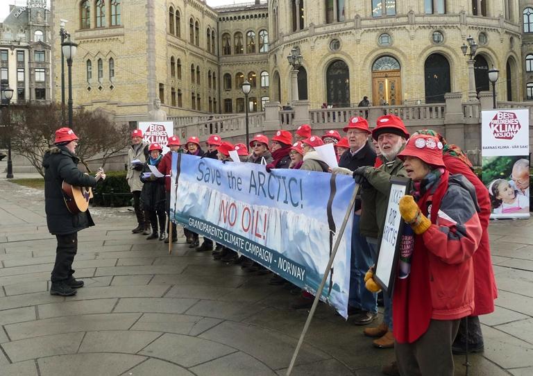Sang foran Stortinget 5 februar