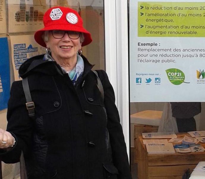 Thelma i Paris under fjorårets klimatoppmøte