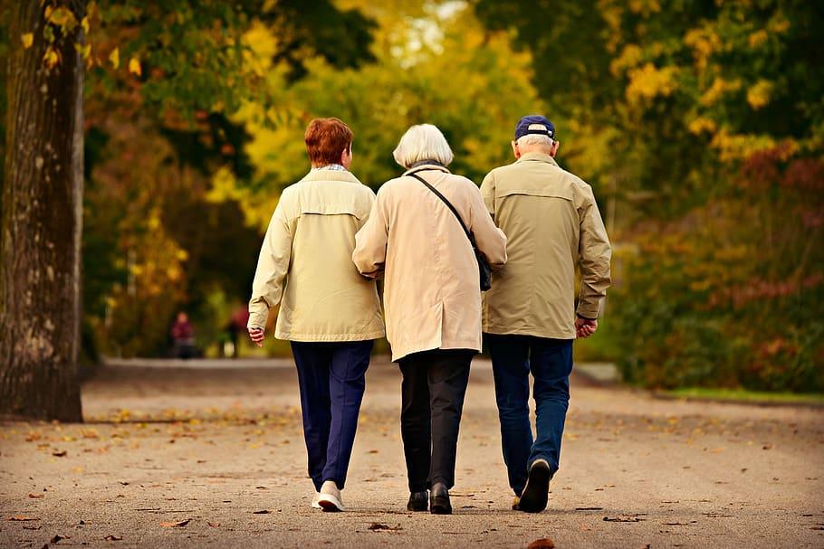 people-three-elderly-walking