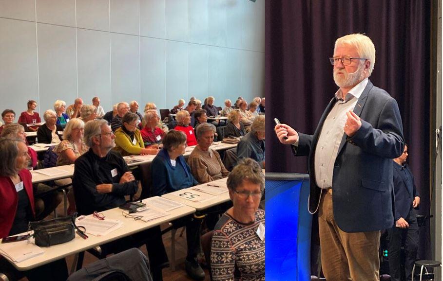 Svein Tveitdal taler til BKAs landsmøte i Trondheim.